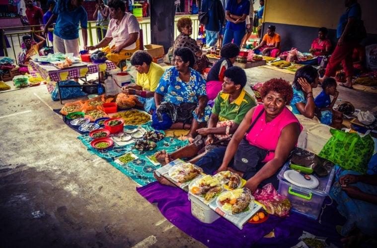 Straßenmarkt auf Fidschi