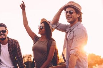 Festivals in New Orleans: Junge Leute feiern