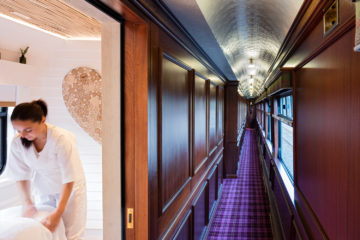 Spa-Abteil im Belmond Royal Scotsman