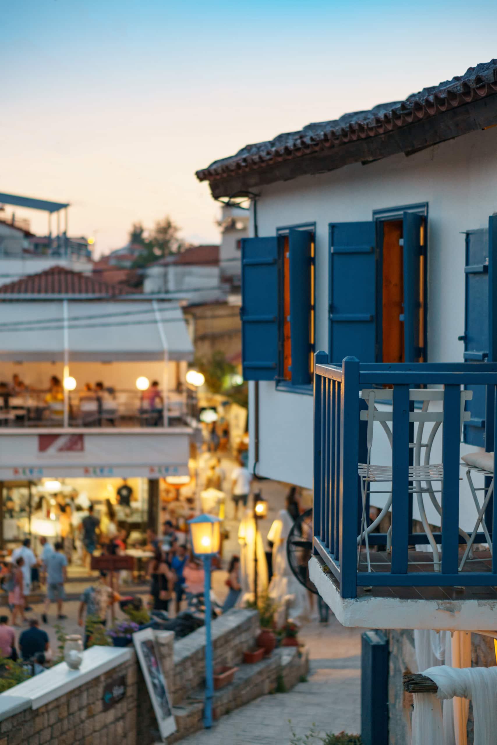 Restaurants in Afytos, einem kleinen Dorf in Chalkidiki