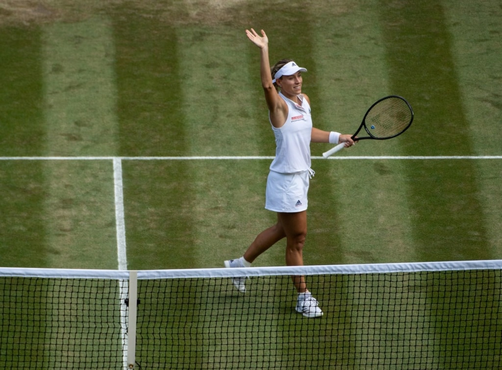 Angelique Kerber auf dem Tennisplatz in Wimbledon