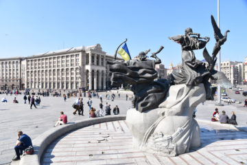 Maidan in Kiew tagsüber