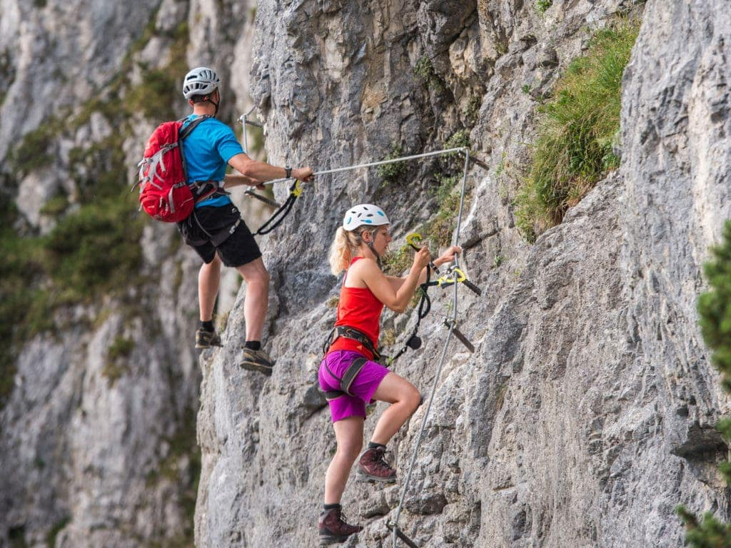 Sport im Urlaub: Klettern in Tirol