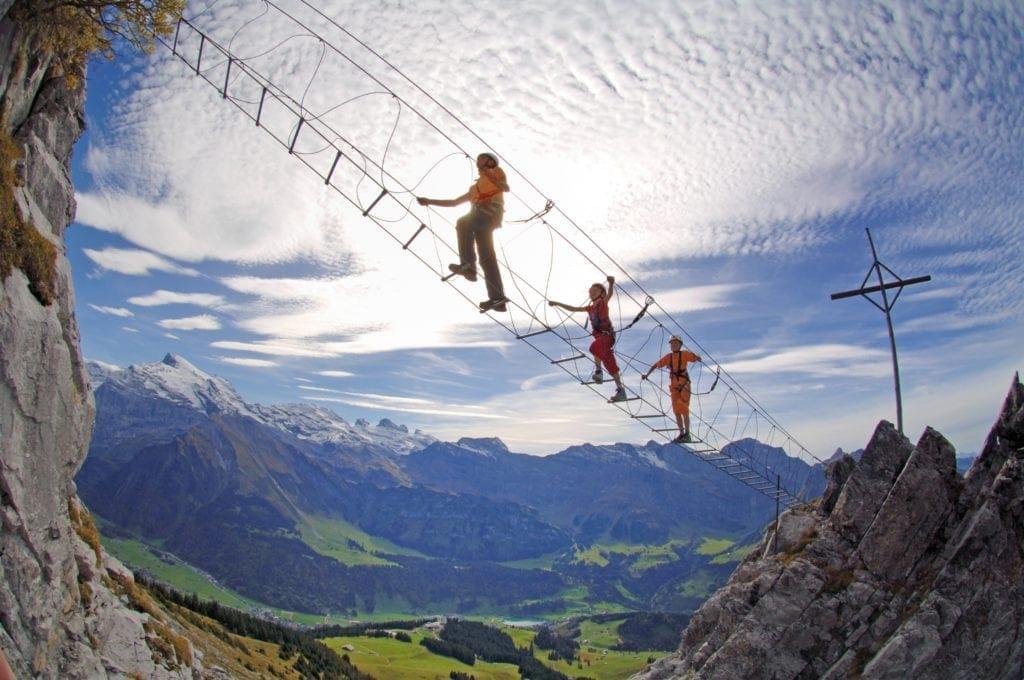 Sport im Urlaub: Klettersteig-Training auf Stahlseil