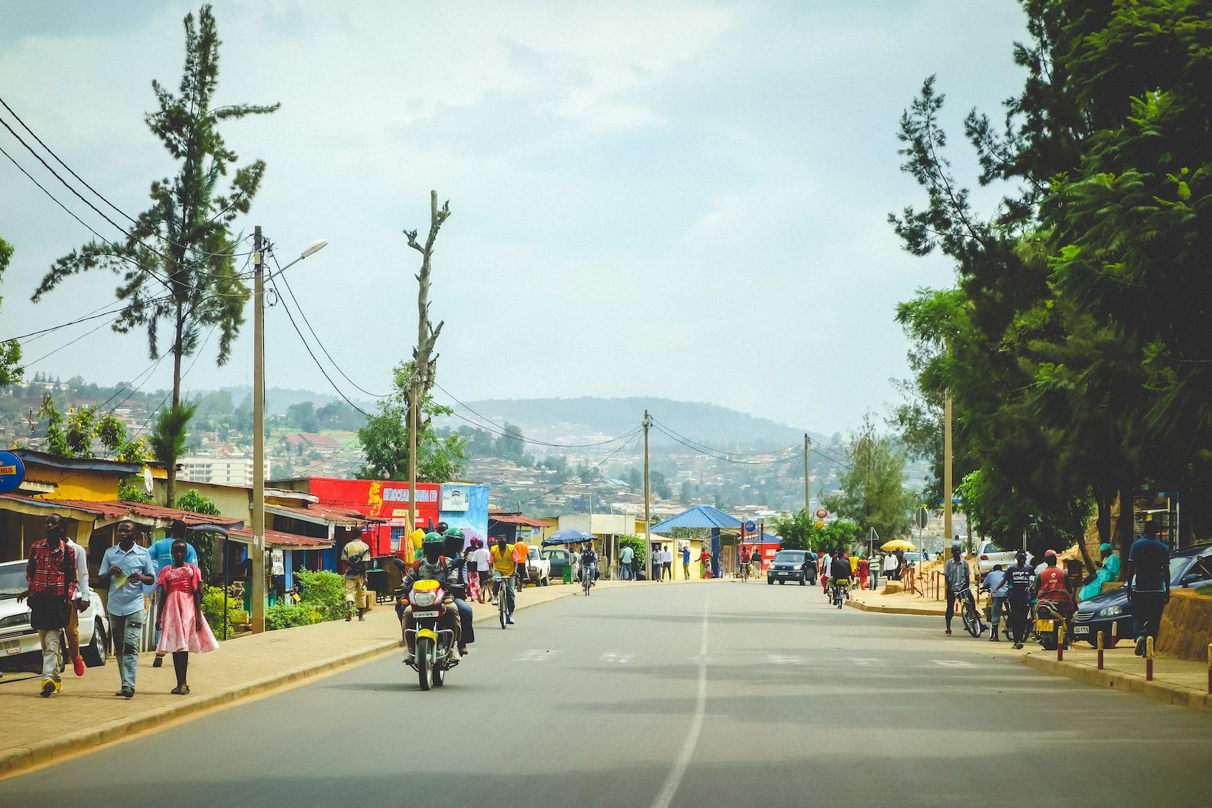 Öffentliche Straße in Ruanda