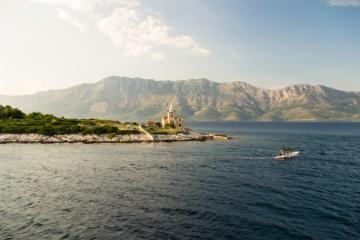 Küste von Kroatien bei Hvar