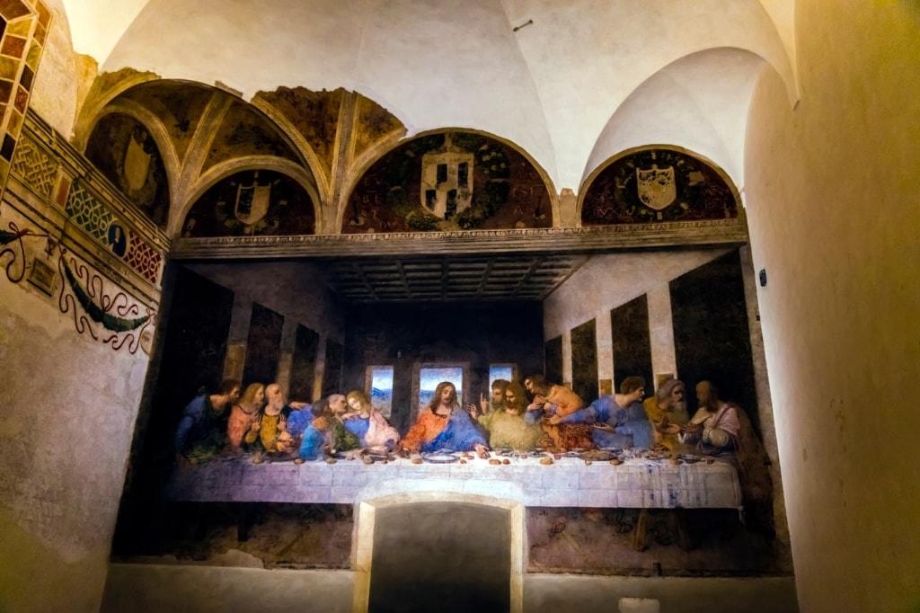 Das Abendmahl von Leonardo Da Vinci in Mailand.