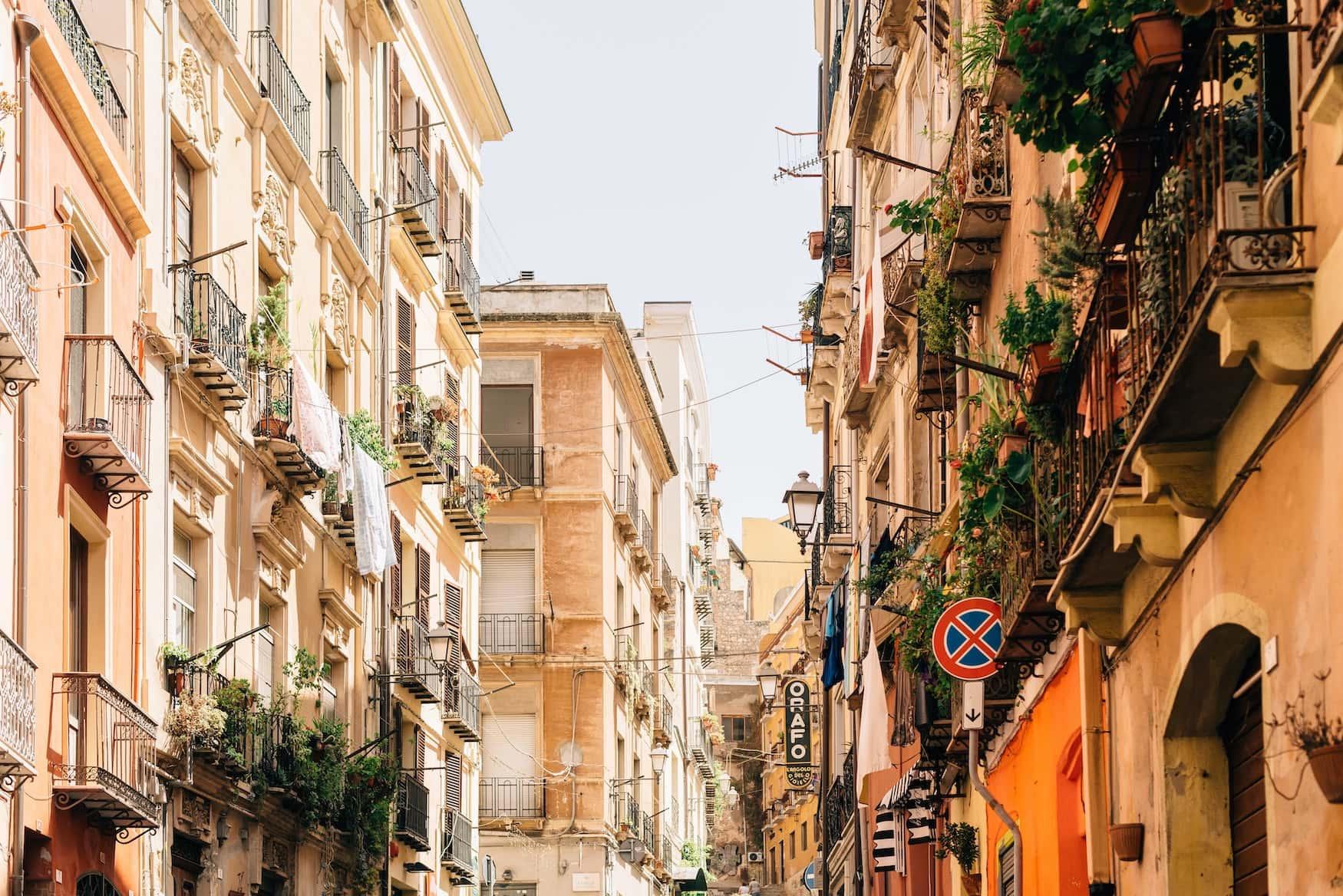 Straße in Cagliari, Sardinien