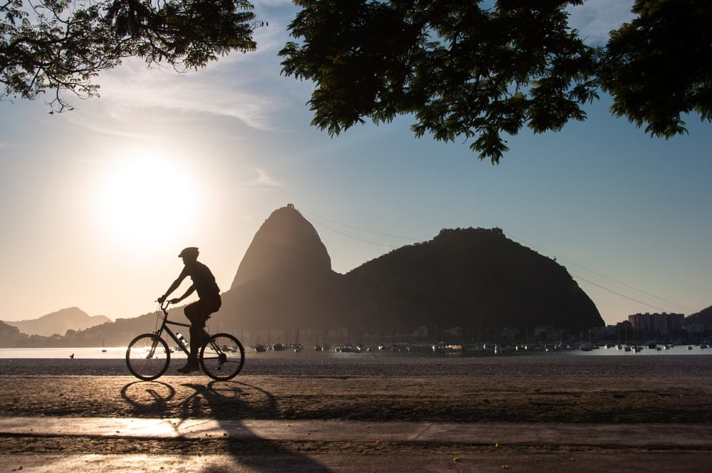 Fahrradfahrer in Rio de Janeiro