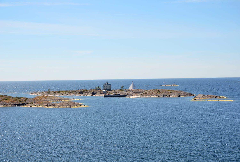 Blick auf Insel in Finnland