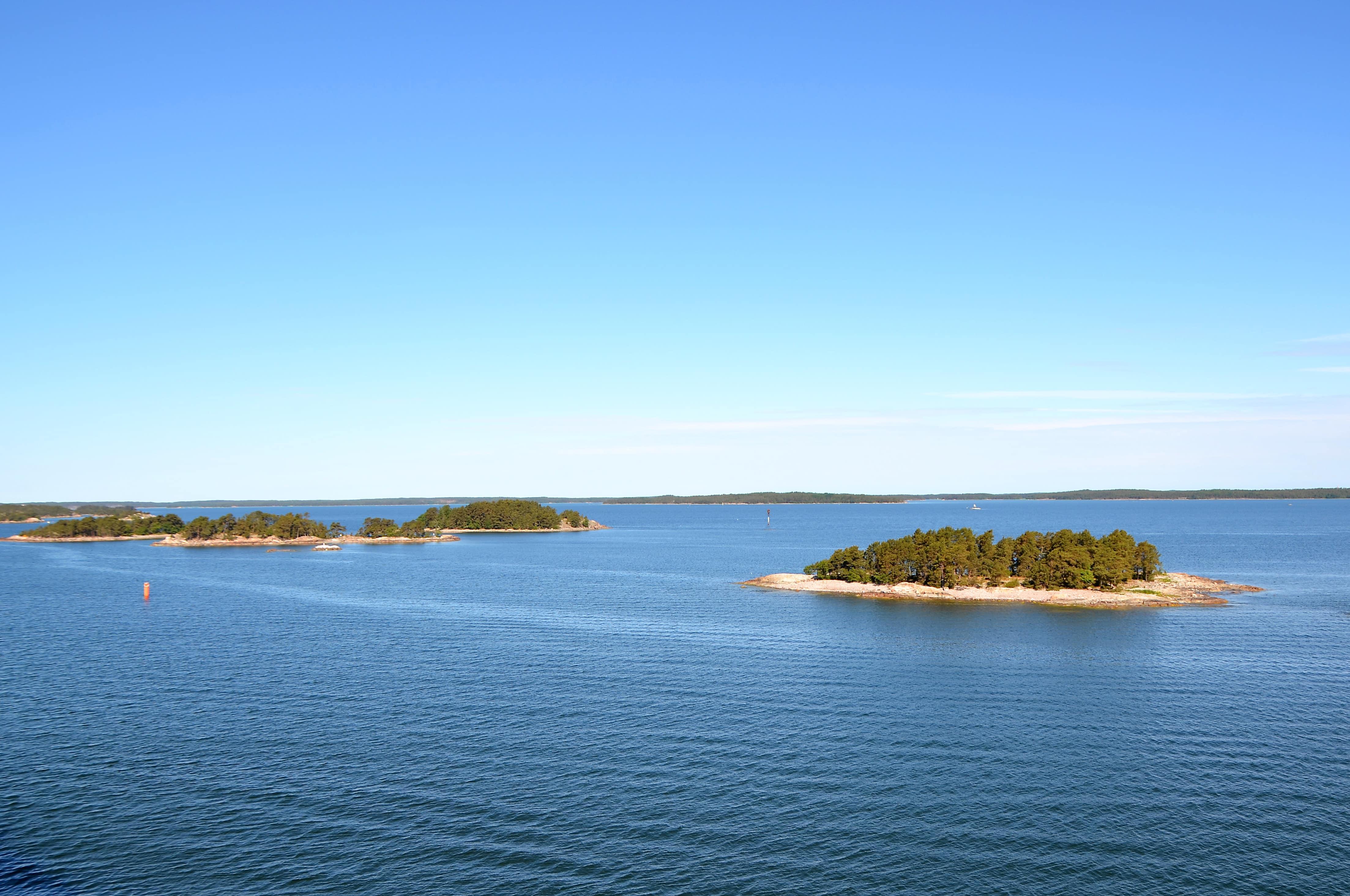 Kleine Inselchen in Finnland