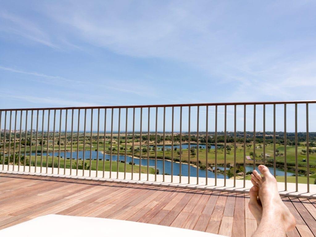 Die Dachterrasse des Anantara Vilamoura an der Algarve, Portugal