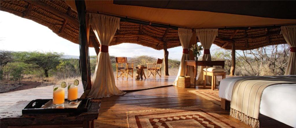 Das Lewa Safari Camp vermittelt echtes Safari-Feeling