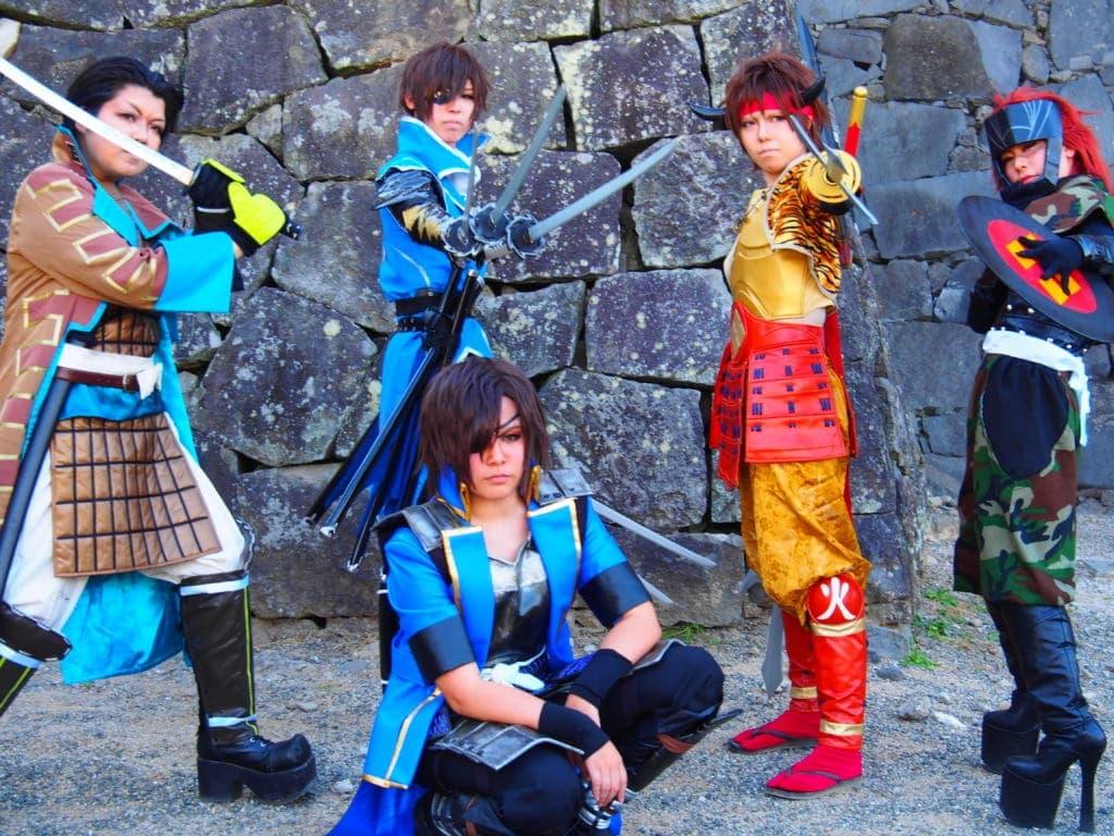 Mangas-vor-der-Burg-von-Kumamoto-kyushu