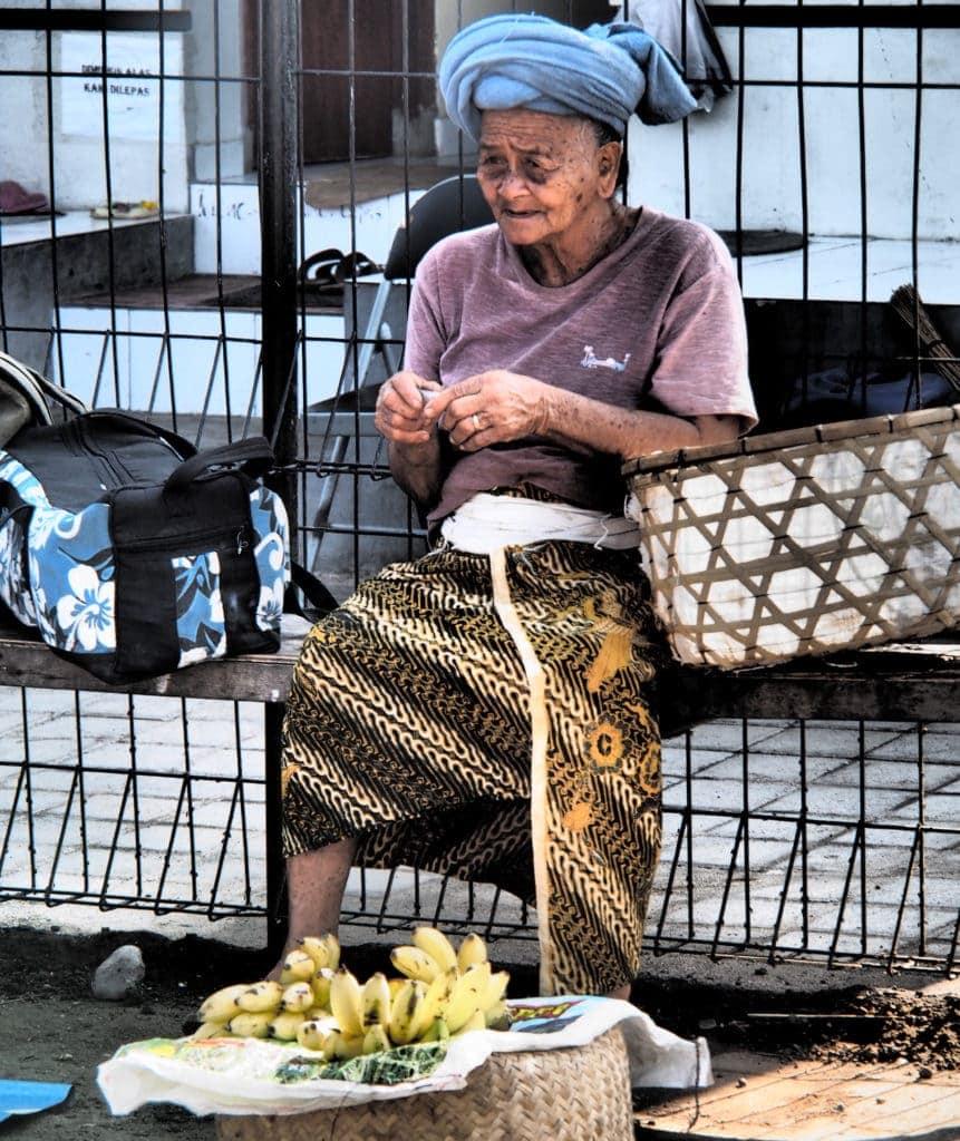 Bananenverkäufer Nusa Dua - bali