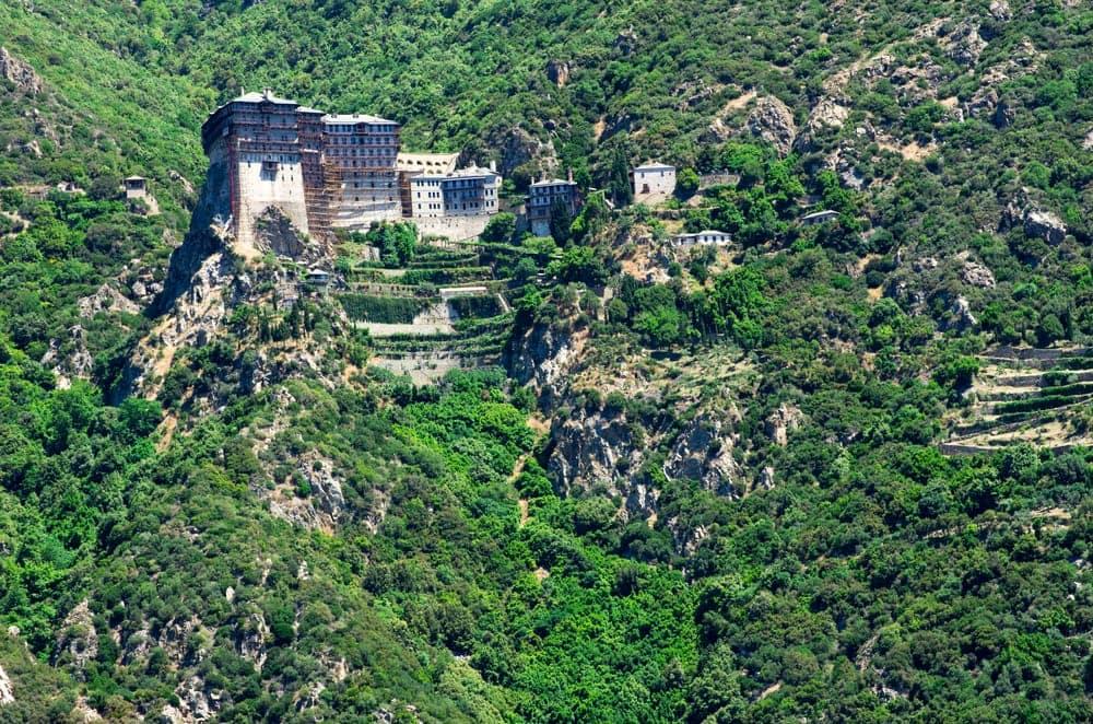 Ein Kloster auf dem Berg Athos