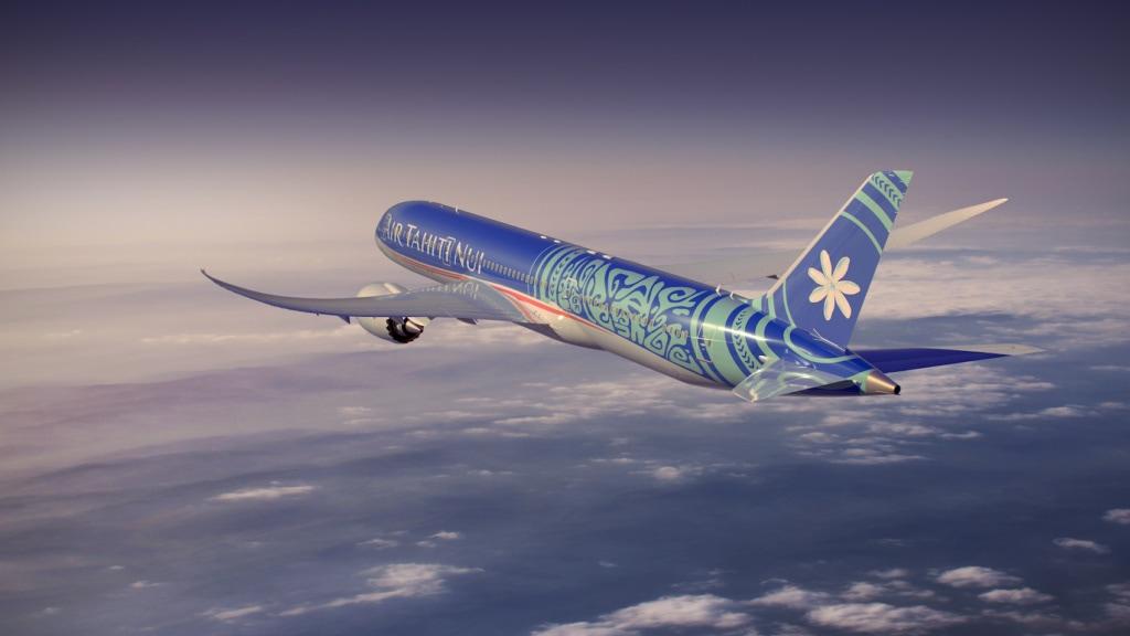 Mit Air Tahiti Nur geht's ganz bequem nach Tahiti, wo die Aranui ihre Fahrt beginnt.