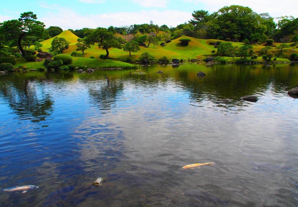 Schönster Garten in Kumamoto - Suizenji-Park_ Kyushu- Japan