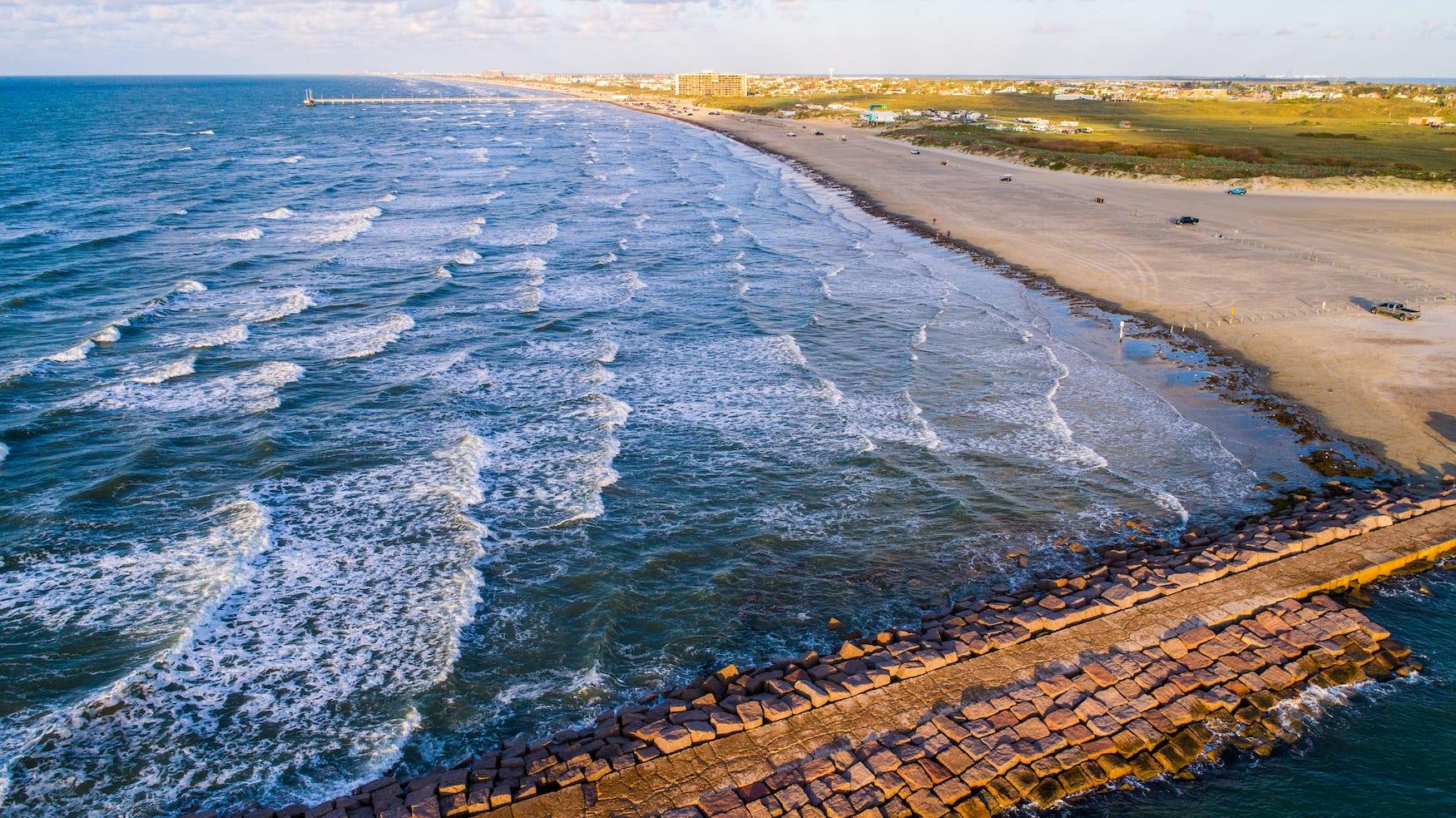 Wellen vor Port Aransas, USA