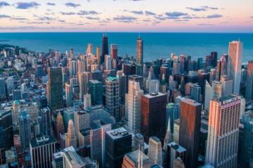 Blick auf die Skyline von Chicago