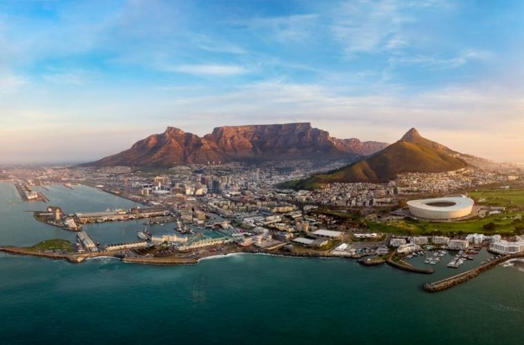 Panorama-Blick auf Kapstadt