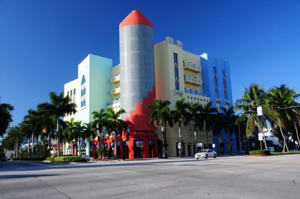 Straße in Miami Beach