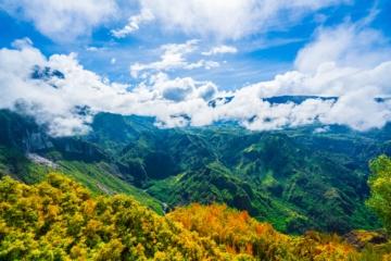 Landschaftsbild auf La Reunion, Frankreich