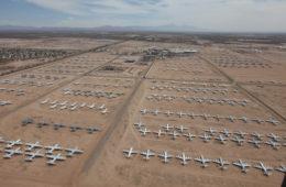 Flughafen-Friedhof Boneyard aus der Vogelperspektive