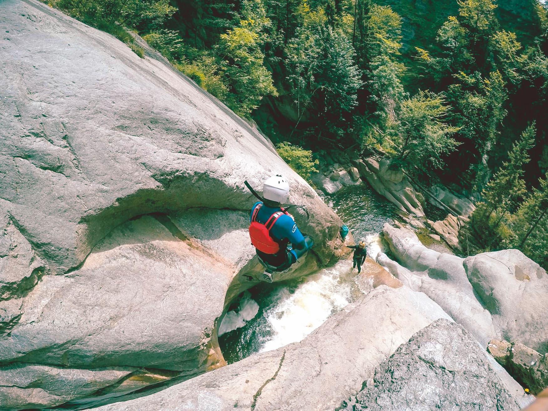 Canyoning an der Chli Schiere in der Schweiz