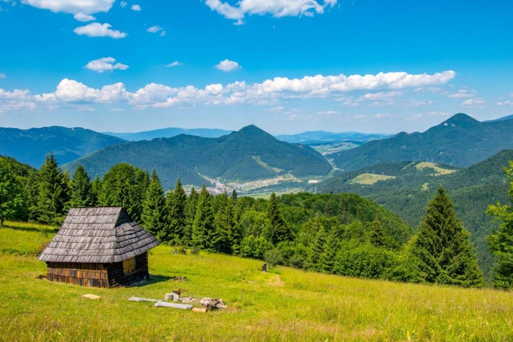 Landschaft in der Großen Fatra in der Slowakei