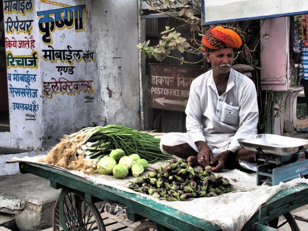 Straßenverkäufer in Rajasthan
