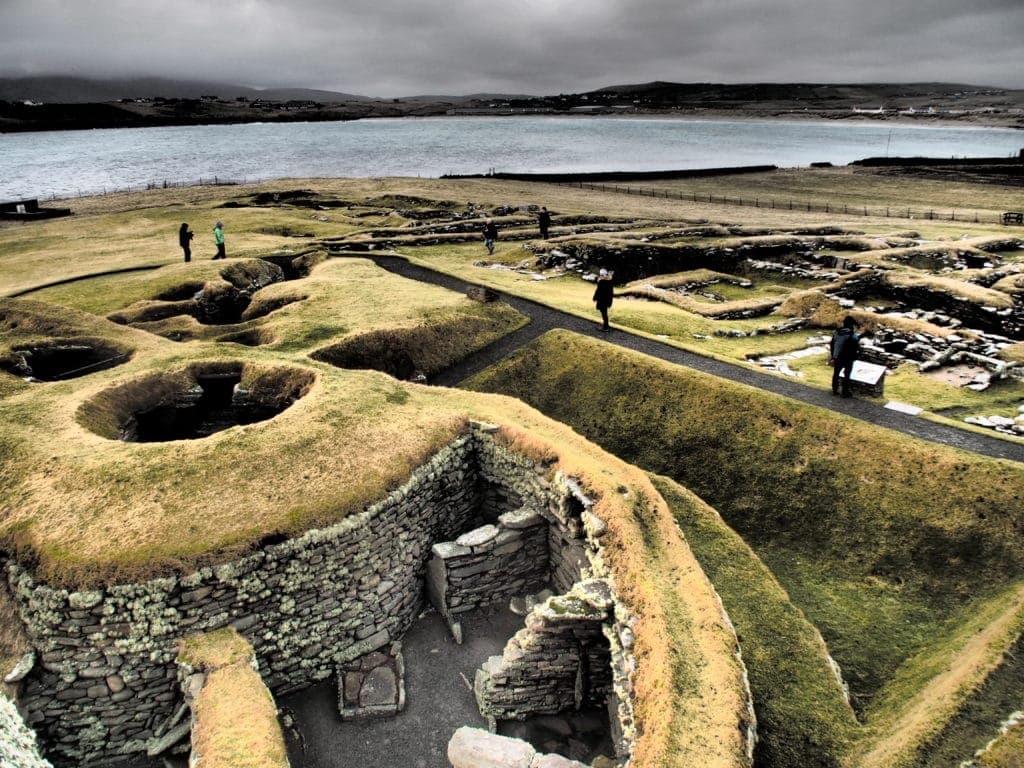 Archäologische Stätte auf Mainland: Jarlshof, Shetlandinseln