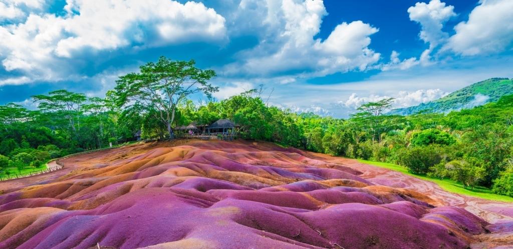 Die Coleurs de Terres - die Farben der Erde - sind eine der Sehenswürdigkeiten auf Mauritius.