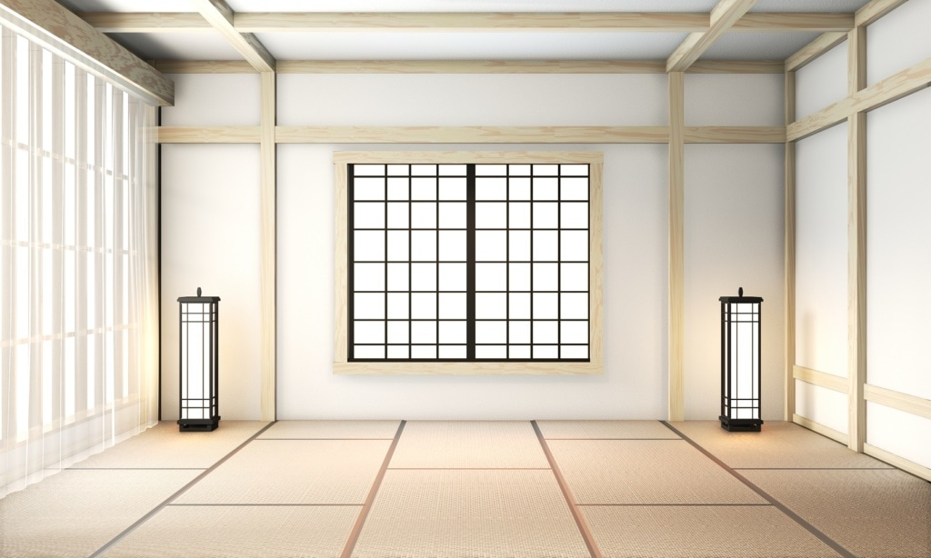 Ryokans sind oft minimalistisch eingerichtet.