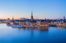Panoramablick auf die Stockholmer Skyline
