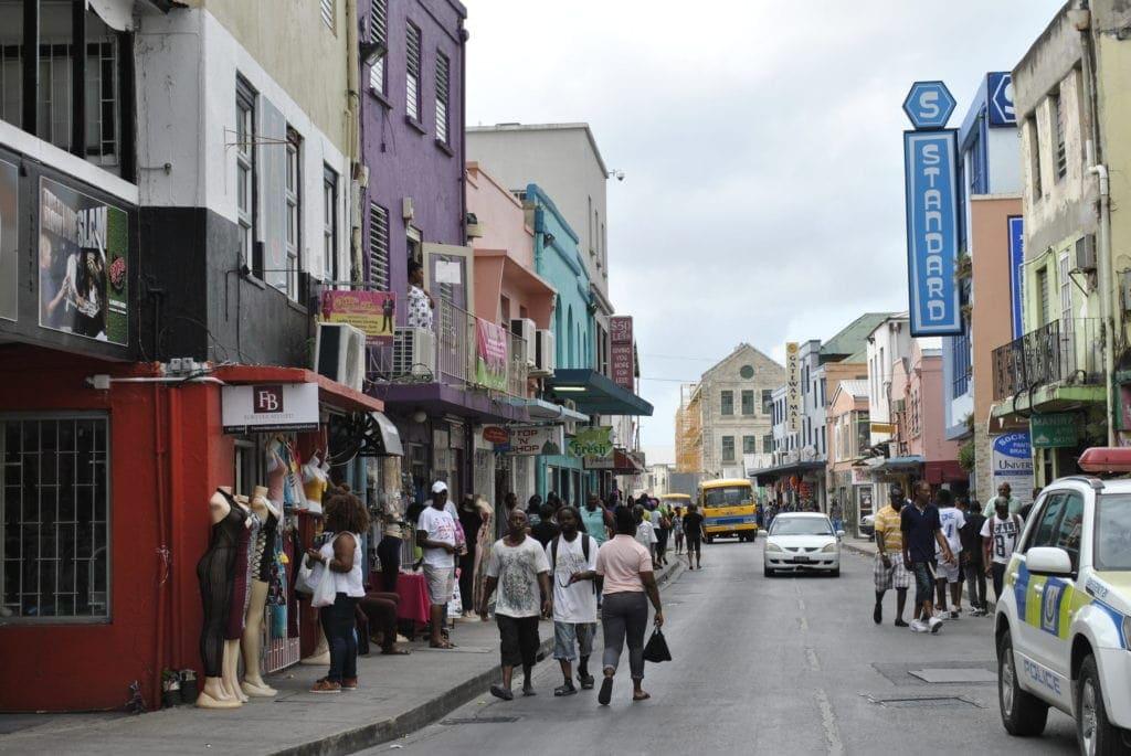Reges Treiben in Bridgetown, der Hauptstadt von Barbados.