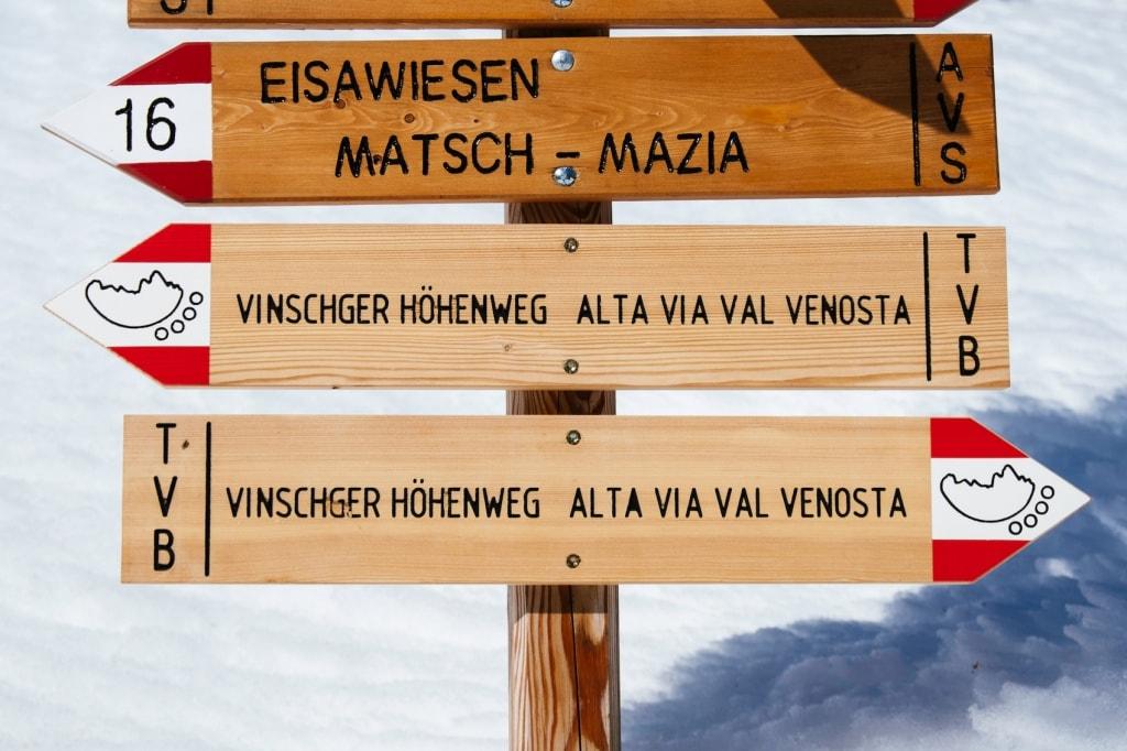 Der Vinschger Höhenweg ist eine der schönsten Wanderrouten im Vinschgau.