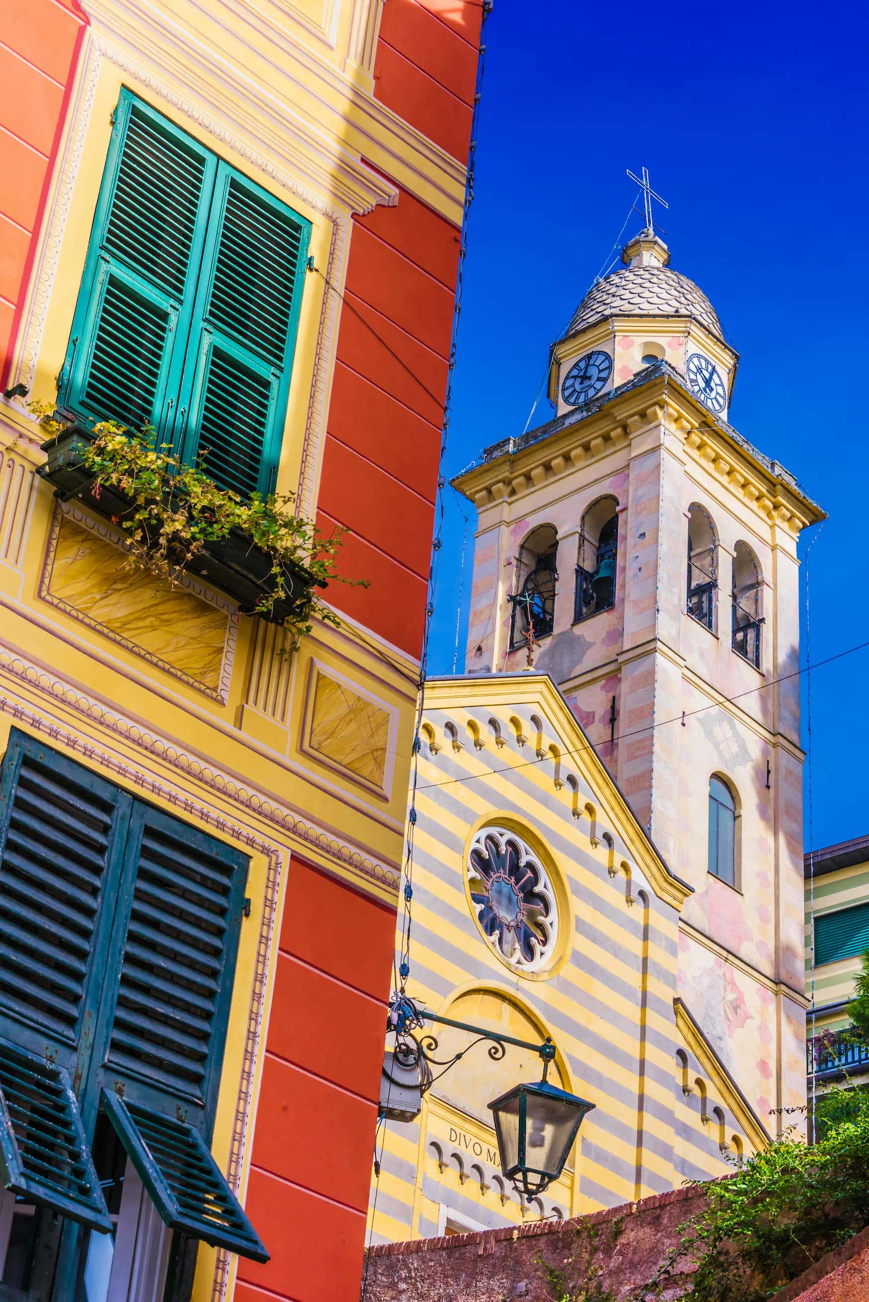 Hausfassade in Portofino
