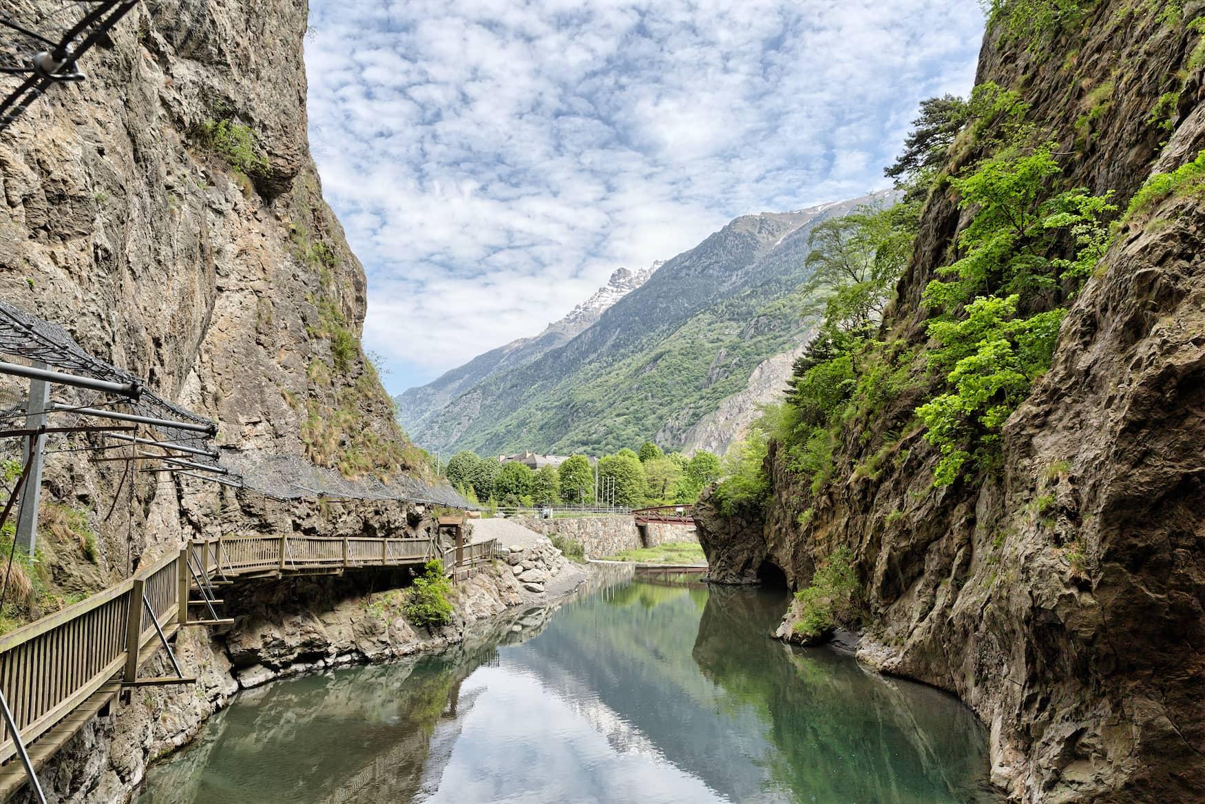 Trient-Schlucht bei Vernayaz in der Schweiz