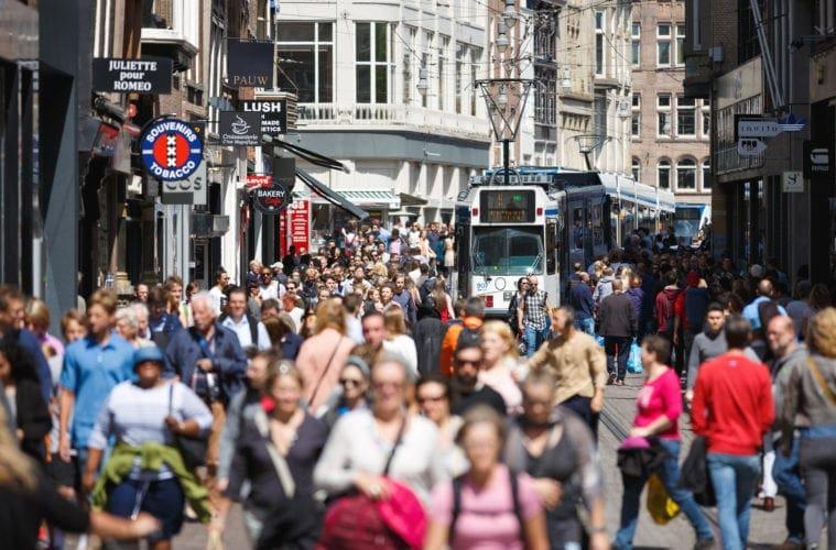 Massentourismus in Amsterdam