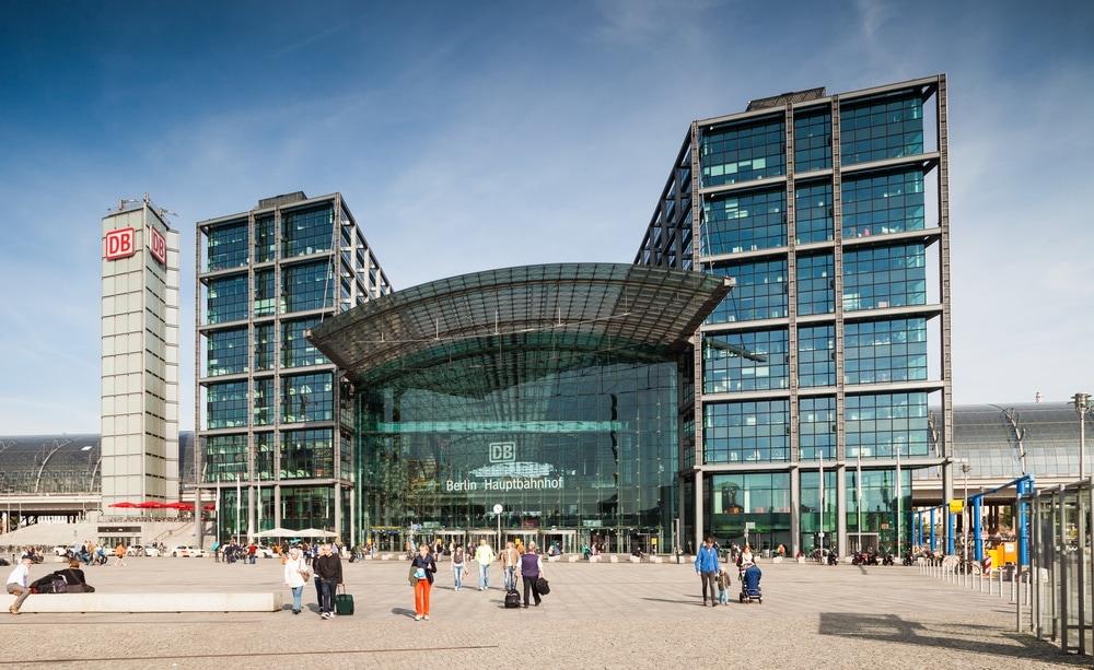 Blick auf den Berliner Hauptbahnhof