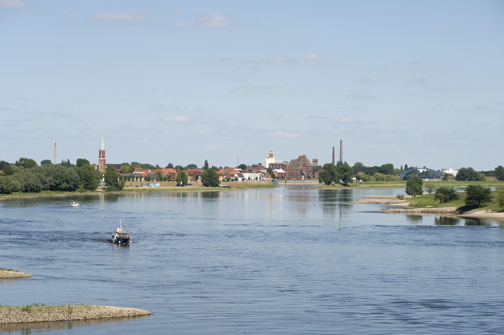 Die Flusslandschaft Elbe bei Wittenberge