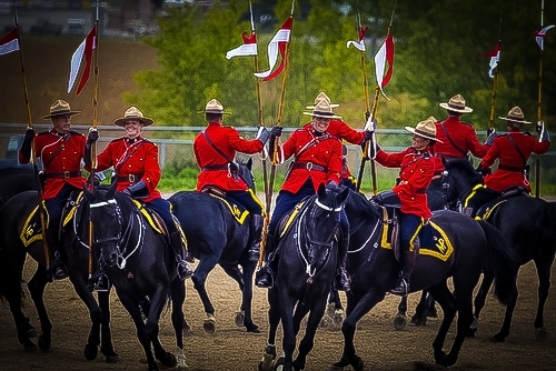 Reiter der Royal Canadian Mounted Police