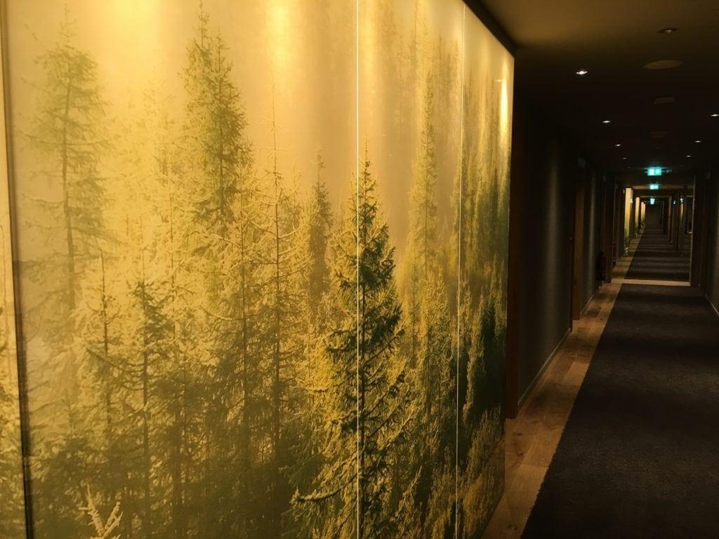 Wald im Flur der Seezeitlodge