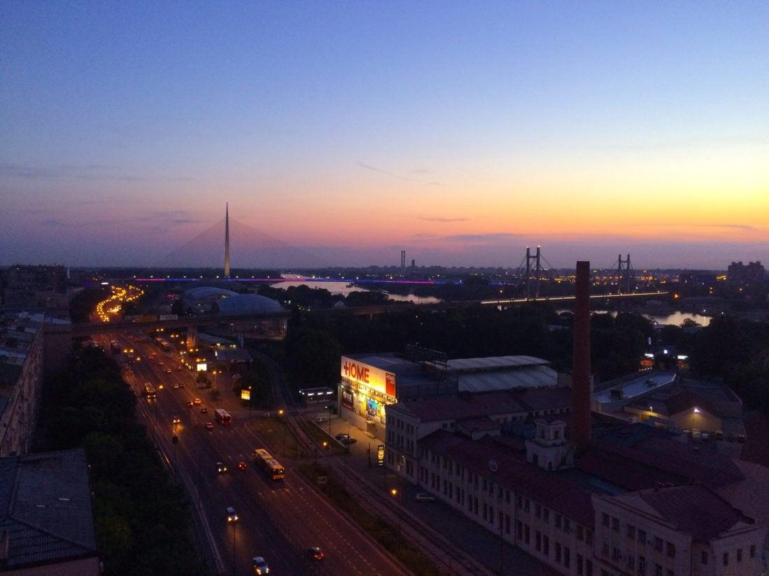 Blick von der Dachterasse des BIGZ in Belgrad