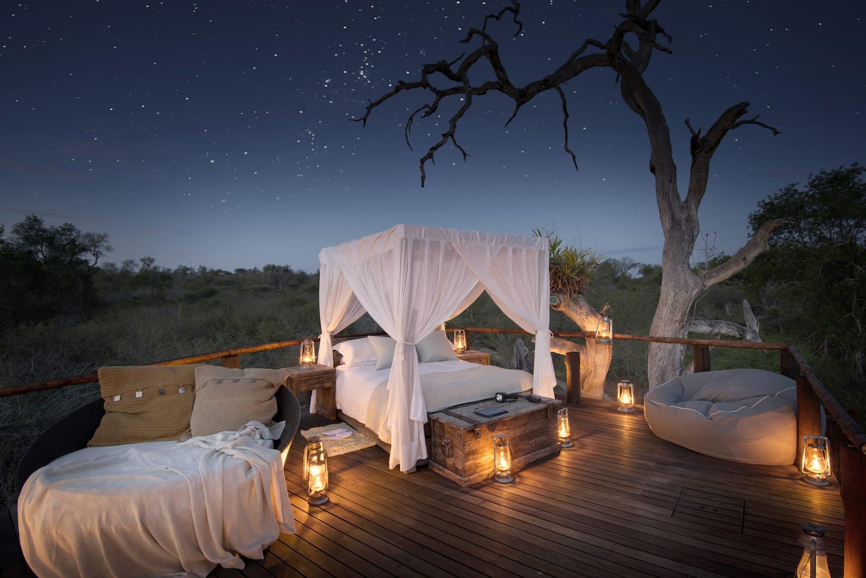 Lion Sands Baumhaus in Südafrika