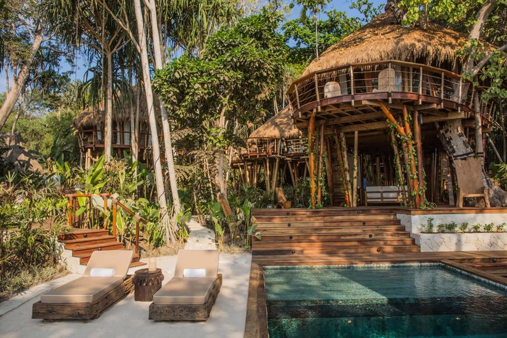Das Baumhaus im luxuriösen Nihi Samba Resort ist einfach wunderschön.