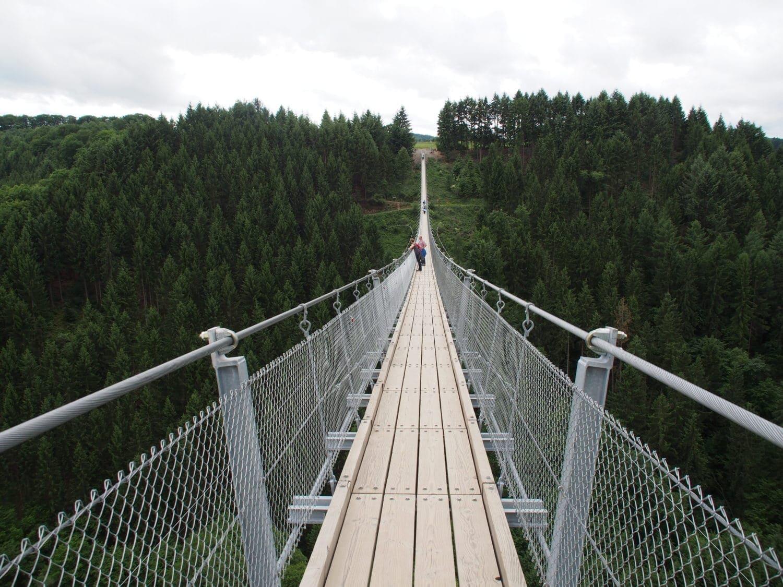 Urlaub im Hunsrück: Besuch der Hängeseilbrücke Geierlay