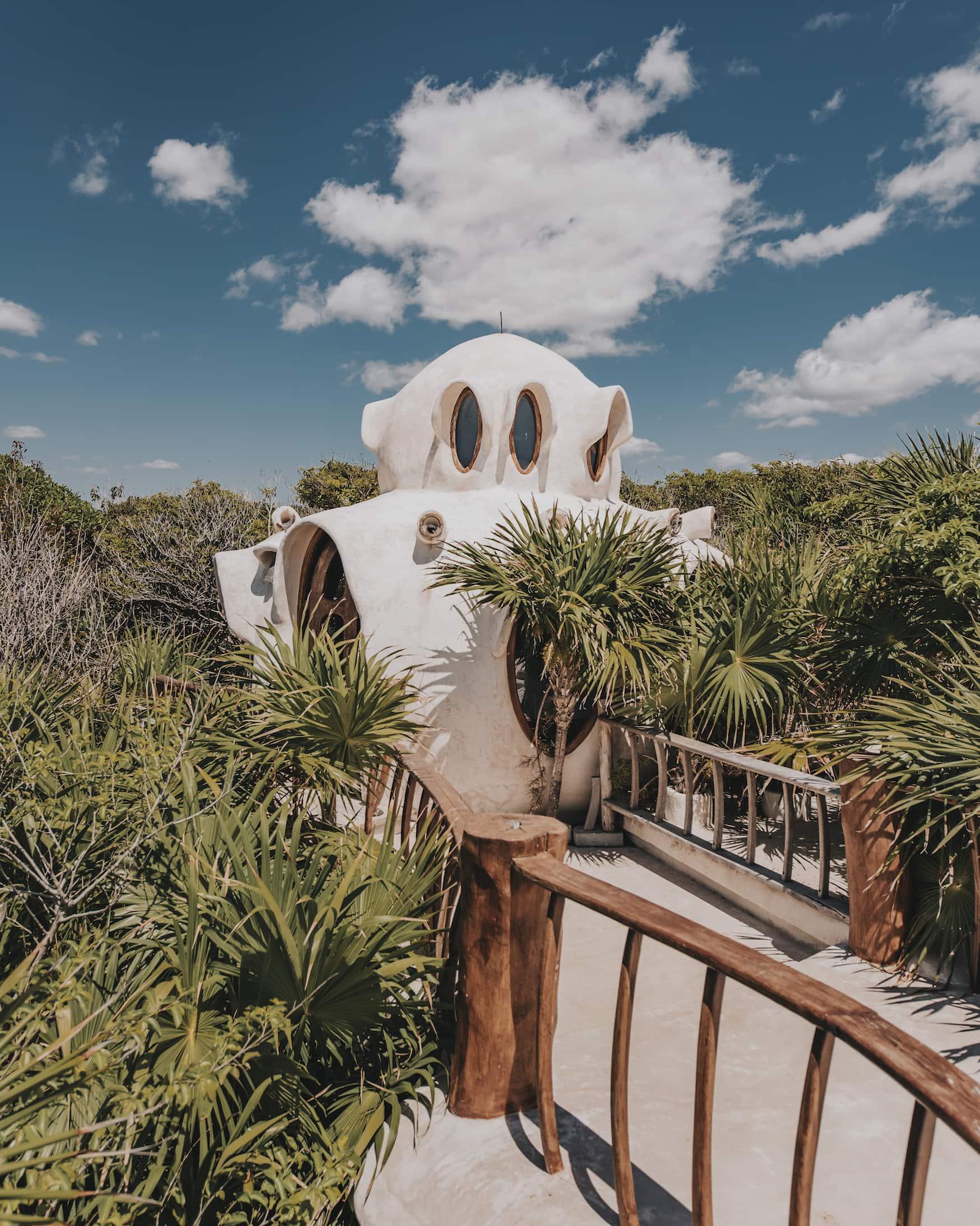 Baumhaus des Papaya Playa Projects in Mexiko