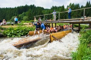 Floßfahrt im Frankenwald